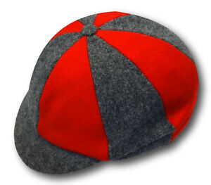 Traditional Multi Colour Wool Flannel School Uniform Caps - Many Adult Sizes