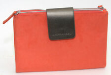 Air France Amenity Folding Orange bag makeup toiletry cosmetic travel pouch