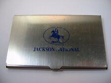 Vintage Collectible Business Card Holder: JACKSON NATIONAL Logo Advertising