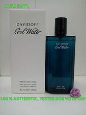 DAVIDOFF COOL WATER FOR MEN 4.2 FL OZ / 125 ML EDT NEW IN WHITE BOX WITH CAP