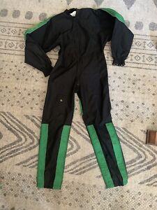 Dragon Master Skydiving Freeflying AAF Gripper Jumpsuit BLACK & Green Size Large
