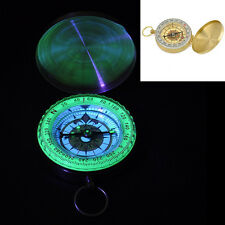 Pocket Brass Watch Style Ring Keychain Outdoor Camping Hiking Compass Navigation