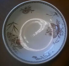 """Excellent Henry Alcock (1861-80) 'Stratford"""" Brown Transferware 14"""" Wash Bowl"""
