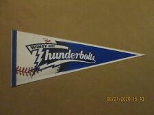 Frontier League Windy City Thunderbolts Circa 2000's Team Logo Baseball Pennant