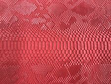 Red Matt Faux Viper Snake Skin Vinyl-faux Leather-3D Scales-sold By The Yard.