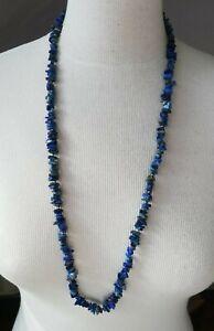 collier sautoir ancien lapis lazuli