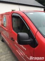 To Fit 02 -14 Vauxhall Opel Vivaro Tinted Window Wind Rain Deflectors - Adhesive