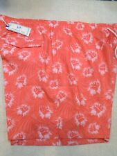 Southern Tide Floral Pattern Swim Trunks NWT XXL $85 Sunset Coral