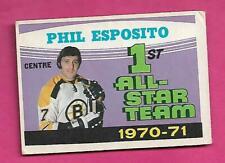 1971-72 OPC # 253 BRUINS PHIL ESPOSITO ALL STAR VG+ CARD  (INV# C9806)