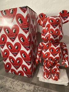 Medicom Bearbrick  Keith Haring Number 6 Hearts 1000 % Be@rbrick