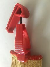 gloves clips RED  W belt clip  gloves grabber safety tools accessory home garden