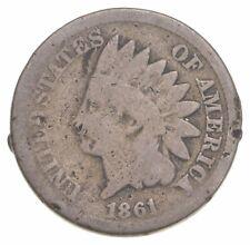 Civil War Era - 1861 Copper Nickel Indian Head Cent - Historic *163