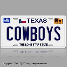 Dallas Cowboys Football Team TX 1996 Prop Replica Aluminum License Plate Tag 96