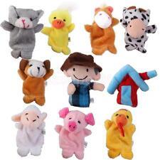 10x Old MacDonald Farm Animal Finger Puppets TOYS BOYS GIRL PARTY BAG FILLER