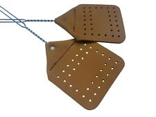 (PACK of 2 ) Amish Made Leather Fly Swatters  Handcrafted Wire Handle