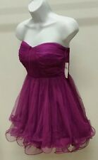 NWT $89 TRIXXI PURPLE SOLID STRAPLESS TULLE PARTY DRESS SIZE: 9