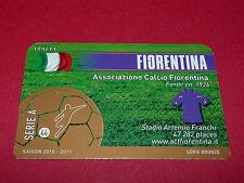 RARE FOOTBALL CARD FOOT2PASS 2010-2011 AC FIORENTINA CALCIO SERIE A FLORENCE