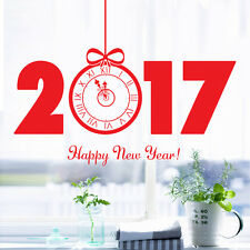 New Year 2017 Merry Christmas Wall Sticker Home Shop Windows Decals Decor
