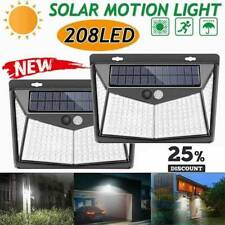 208 LED Solar Power PIR Motion Sensor Wall Light Outdoor Garden Lamp New