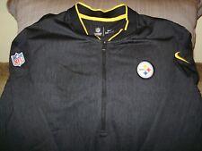 0d0349a5a NFL Pittsburgh Steelers Nike Dri-Fit Coaches 1 2 Zip Golf Jacket Men s  Medium