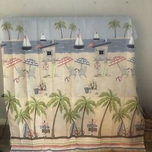 Beach Scene Shower Curtain pre owned