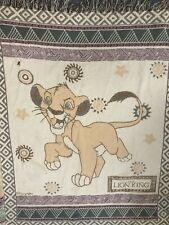 """Vintage 90s Beacon Lion King Simba Disney Woven Throw Blanket 56"""" X 41"""""""