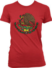 Mexico Golden Eagle Snake Coat of Arms Flag Symbol Mexican MEX Juniors T-Shirt