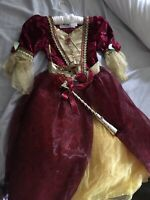 Disney Store Deluxe Belle Dress Costume Princess Fancy Size 5/6 Lightly Used