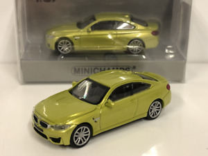 Minichamps 870027200 BMW M4 Coupe 2015 Yellow 1:87 Scale