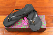 c83bd132165 Tory Burch 50008666 Womens Size 8 Black Open Toe Flip Flops Sandals Shoes