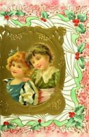 1870's-80's Lovely Die Cut Embossed Fancy X-mas Christmas Victorian Card *X