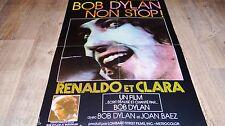 bob dylan RENALDO ET CLARA joan baez ! affiche promo cinema musique concert 1977