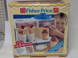 FISHER PRICE Fun with Food 1988 McDonald's SODA fountain ICE CREAM machine