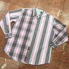 Men/'s Enyce PinkGreyWhite Long Sleeve Button Down Shirt