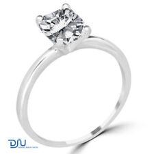 White Cushion Engagement Fine Diamond Rings