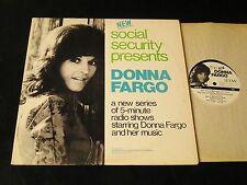 Donna Fargo Social Security Radio Show - 2 LP - David Allen Coe And More!