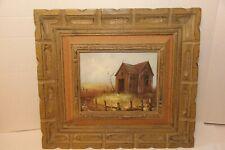 Vintage Listed artist J. Medina Original Landscape Oil Painting