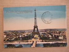 CPA PARIS (75) LE PARC DU CHAMPS DE MARS ET LA TOUR EIFFEL. SOUVENIR TOUR EIFFEL