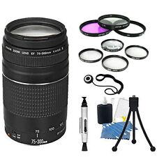Canon EF 75-300mm f/4.0-5.6 III Autofocus Lens Bundle For T5 T6 T6i T6s 70D 80D