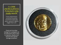 1x 1996 Henry Parkes uncirculated specimen coin NO mint mark in USA made capsule