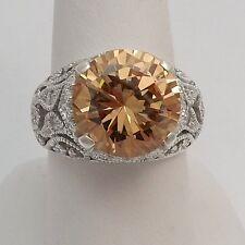 New Espo Jubilee Joe Esposito Sterling Silver Peach CZ Ring