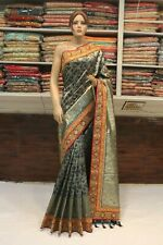 Bollywood Hand Work Ethnic Saree Indian Banarasi Silk Sari Bridal Party Dress