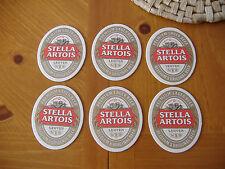 (6)  Very Nice STELLA  ARTOIS  BEER  BAR  COASTERS for MAN CAVE , Draft Beer