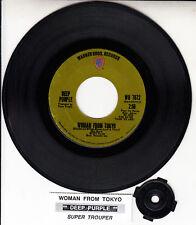 "DEEP PURPLE  Woman From Tokyo 7"" 45 vinyl record + juke box title strip RARE!"
