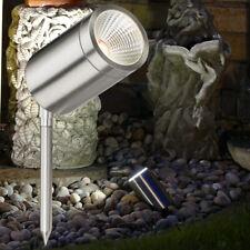 Garden Spike Light Adjustable Outdoor IP65 Mains 240V 6W COB LED Stainless Steel