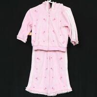 BT Kids Ballet Sweatsuit Track Suit 18 Mos Pink Ballerina 2 Pc Jacket Pants Girl