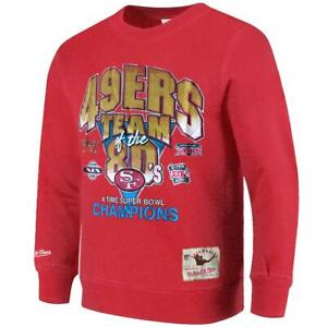 San Francisco 49ers Mitchell & Ness NFL 80's Champs Vintage Crew Jumper - Red