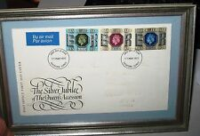 Silver Jubilee of Queens Accession 11 May 1977 Original First Day Cover Framed