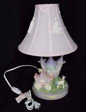 Girl Fairy Tale Castle Carriage Unicorn Baby Nursery Table Lamp Princess Pink