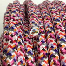 Textilkabel, Leitung Faser umflochten, rund, Rio fuchsia,3x0,75 H03VV